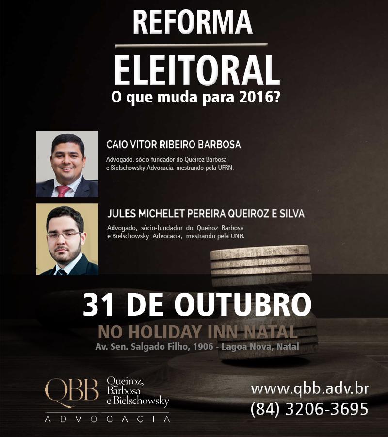 Cartaz - Reforma eleitoral