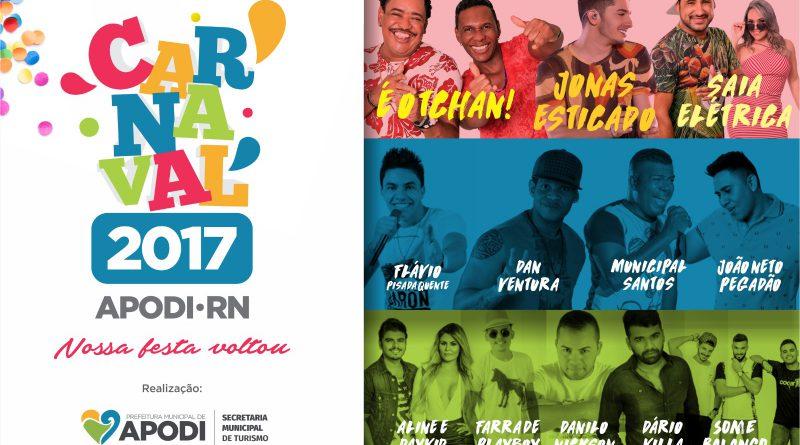 Atrações Carnaval de Apodi 2017